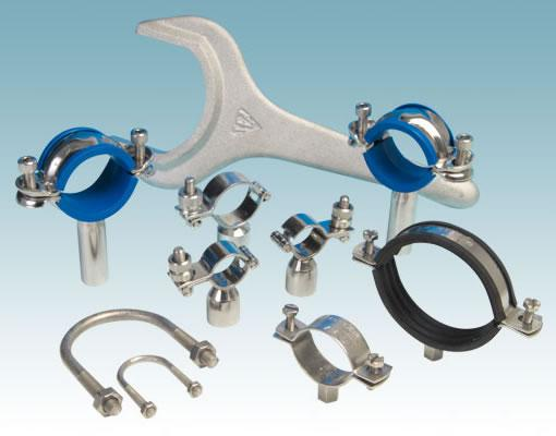 Accessories including Spanners, Pipe Clips, Hangers & U Bolts